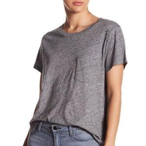 NWT Madewell Crew Neck T-Shirt One Pocket Heather